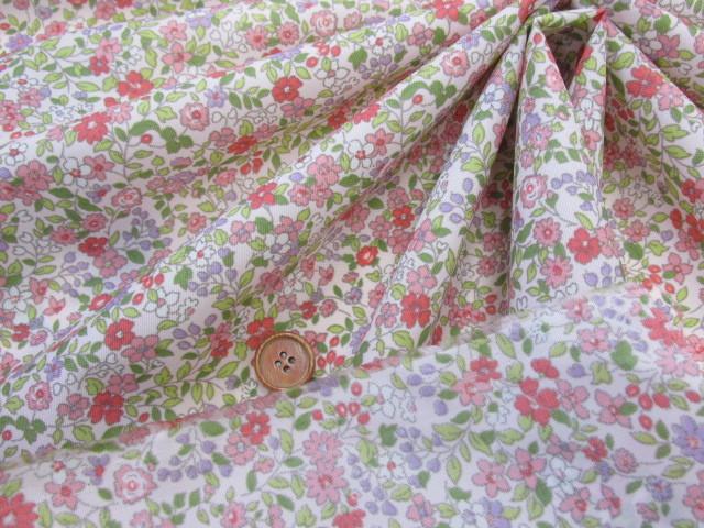 画像3: (2)撥水加工 ナイロンオックス生地 小花柄 はぎれ45cm(ピンク)