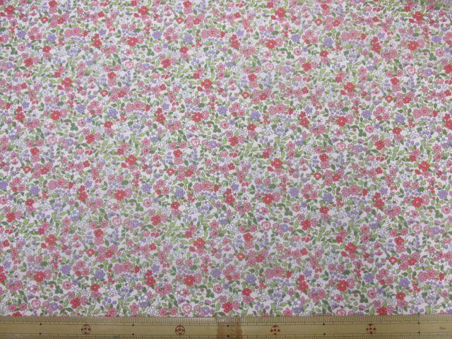 画像2: (2)撥水加工 ナイロンオックス生地 小花柄 はぎれ45cm(ピンク)