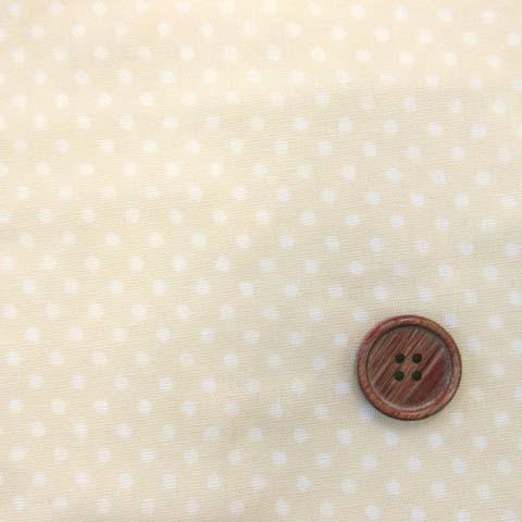 画像1: Wガーゼ ミニミニ 3mmドット 水玉 (☆クリーム地)