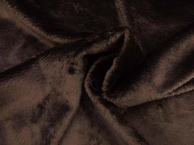 画像3: (T)ふわふわ柔らかい!! 定番 マイクロベルボア ボア生地 はぎれ20cm(ブラウン)