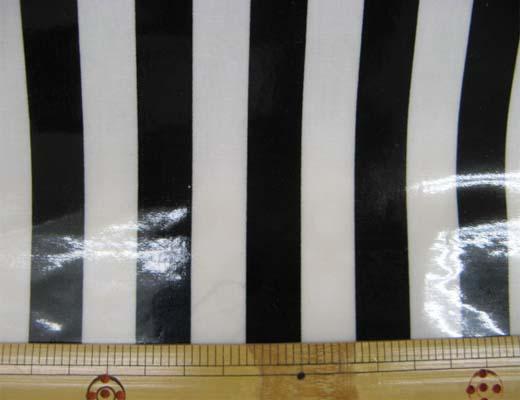 画像1: 定番 ストライプ【大】柄 ブロード生地(黒)ラミネート