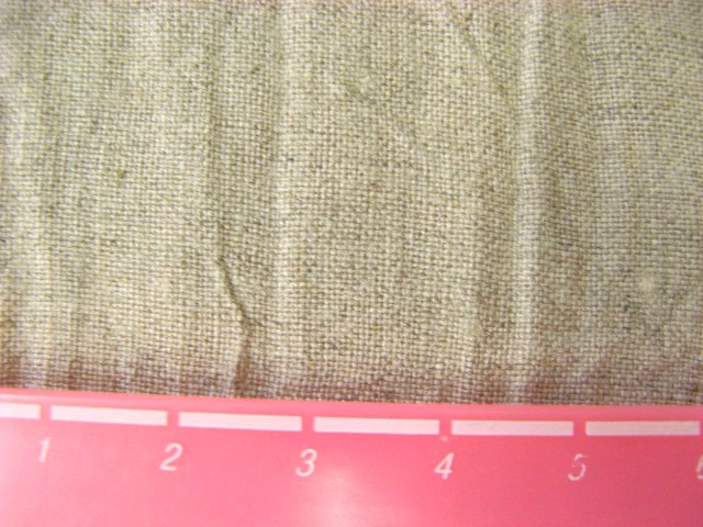 画像1: (4)リネンキャンバスハンドワッシャー生地 はぎれ35cm(生成り)