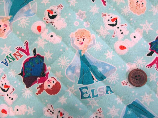 画像1: 2019年 アナと雪の女王柄 ディズニー オックス生地 半針キルト はぎれ60cm