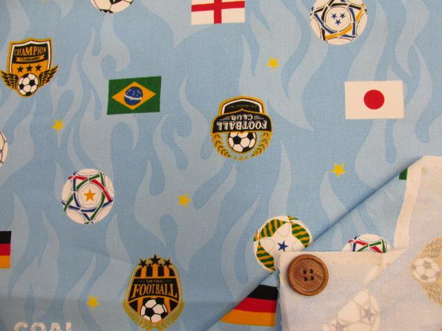 画像3: サッカー・国旗柄 オックス生地