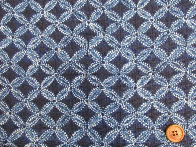 画像2: 和柄 藍調 七宝柄 モーリークロス生地