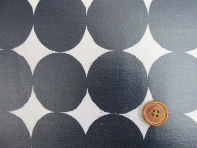 画像1: 綿麻キャンバス 和楽美 ナチュラルペイントドット (ネイビー) ラミネート