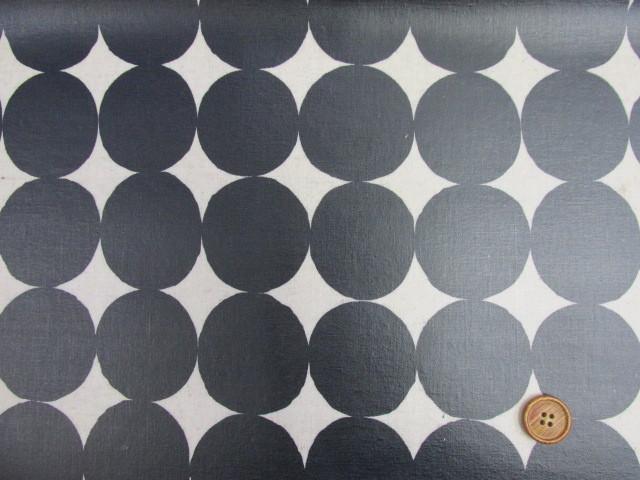 画像2: 綿麻キャンバス 和楽美 ナチュラルペイントドット (ネイビー) ラミネート