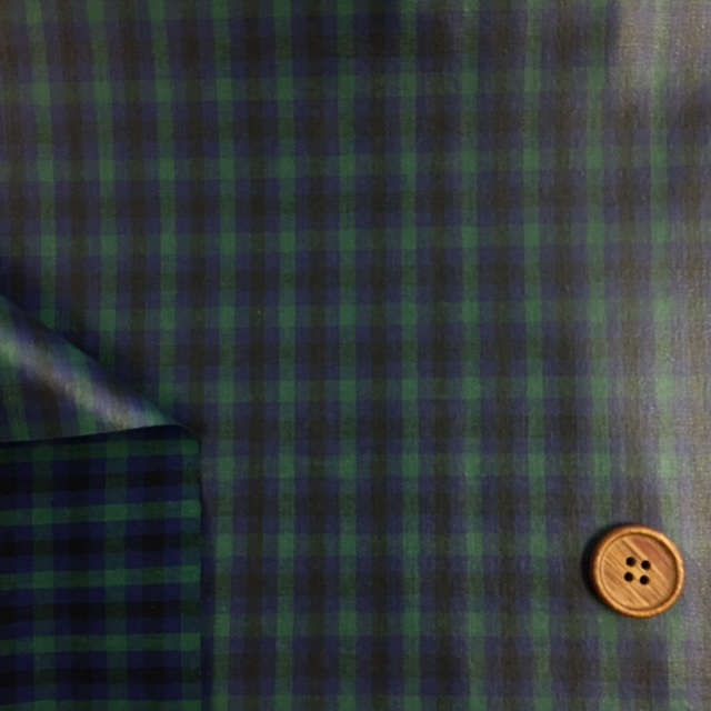 画像3: 先染め生地カントリーチェック(緑)ラミネート  つや消し
