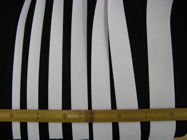 画像1: 平ゴム白 巾15mm〜50mm