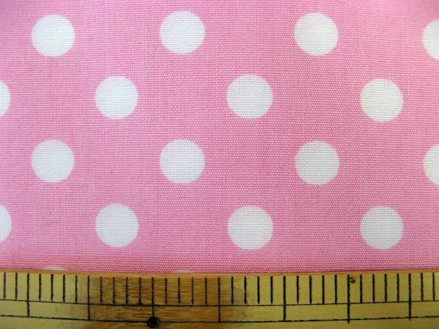 画像1: 定番ブロード 7mmドット柄(ピンク)