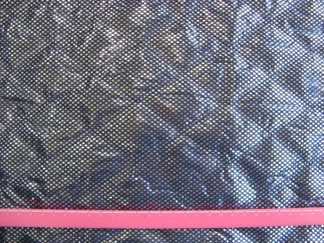 画像1: ▼訳あり 【丈夫でミシンで縫えます!】アルミ保温・保冷シート(120cm幅)紺色 はぎれ50cm