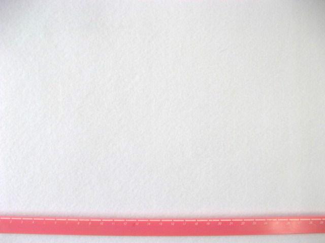 画像1: 定番洗えるフエルト90cm巾生地 白(RZ-01)