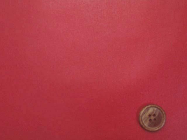 画像1: 無地 オックス生地(赤)ラミネート つや消し