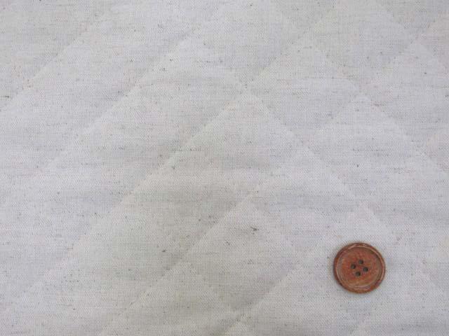 画像1: 現品限り!! 綿麻キャンバス 無地 (生成り)  半針キルト はぎれ20cm
