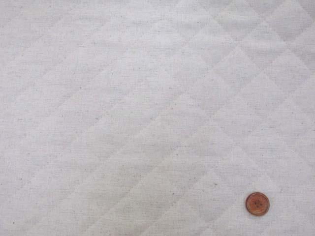 画像2: 現品限り!! 綿麻キャンバス 無地 (生成り)  半針キルト はぎれ20cm