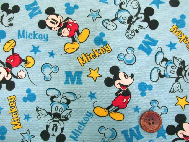 画像1: 2019年 ディズニー ミッキーマウス柄 オックス生地