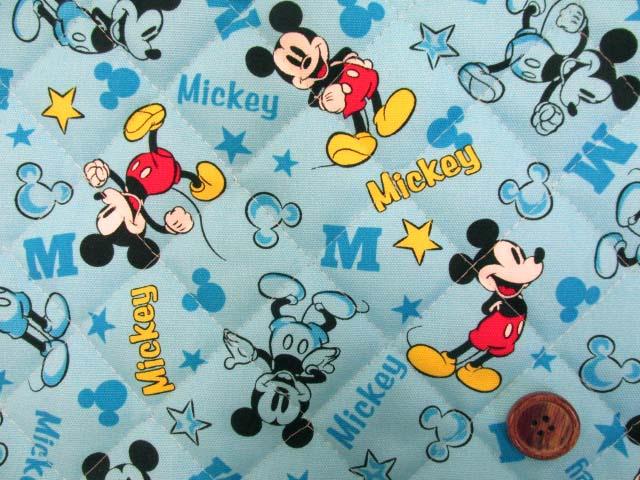 画像1: 2019年 ディズニー ミッキーマウス柄 オックス生地  半針キルト