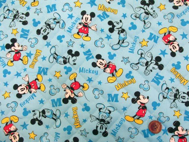 画像2: 2019年 ディズニー ミッキーマウス柄 オックス生地  半針キルト