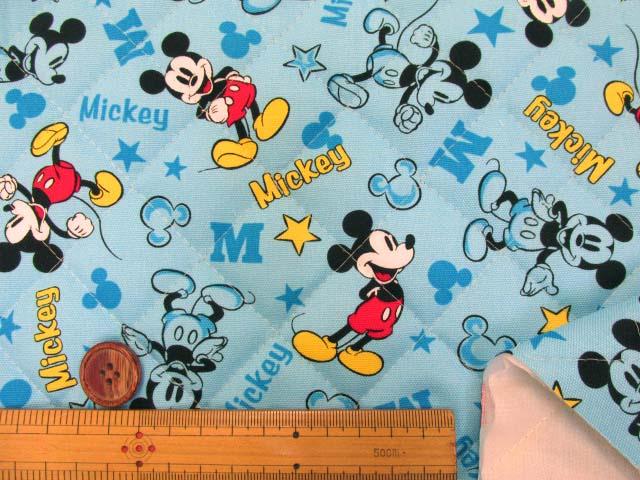 画像3: 2019年 ディズニー ミッキーマウス柄 オックス生地  半針キルト