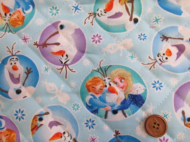 画像1: 2018年 アナと雪の女王 オックス生地 (ブルー) 半針キルト