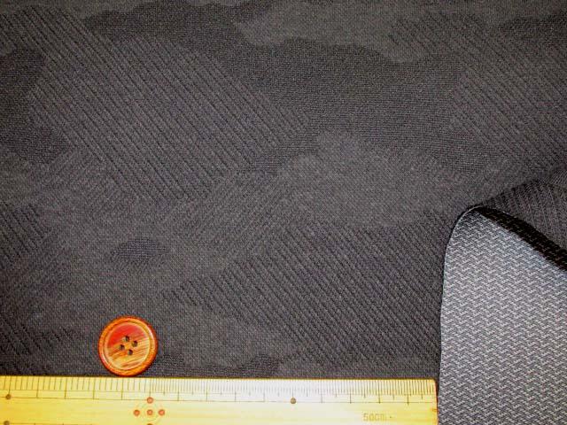画像3: 【お買い得!!】148cm幅 ジャガードニット生地 迷彩柄 (ブラック)