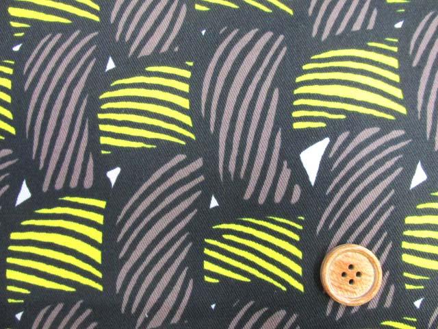 画像1: 織り地柄 ツイル生地 (茶色x黄色)