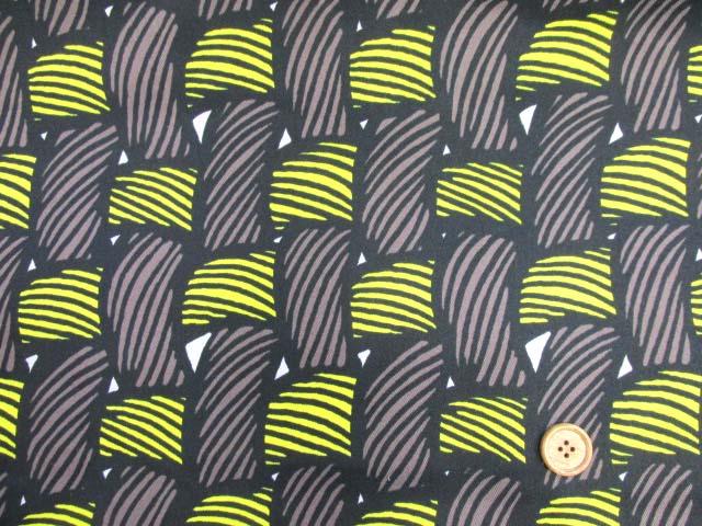 画像2: 織り地柄 ツイル生地 (茶色x黄色)