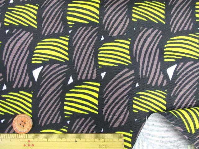 画像3: 織り地柄 ツイル生地 (茶色x黄色)