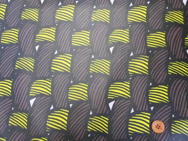 画像2: 織り地柄 ツイル生地 (茶色x黄色)  ラミネート つや消し