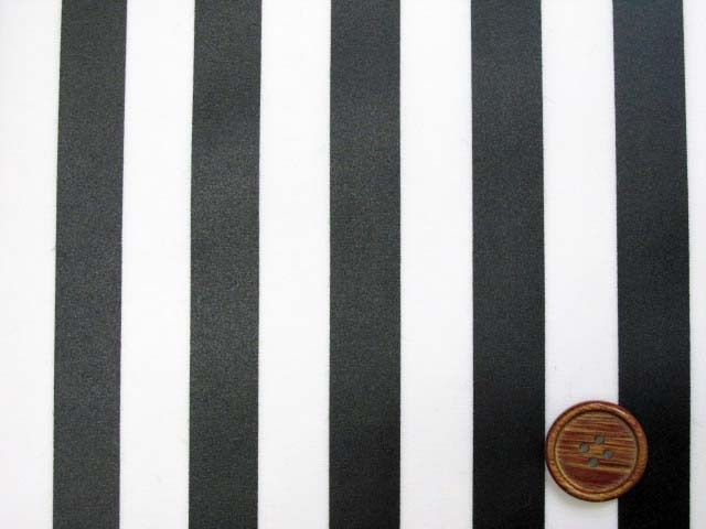 画像1: 定番● ストライプ【大】柄 ブロード生地(黒色)ラミネート つや消し