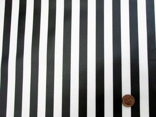 画像2: 定番● ストライプ【大】柄 ブロード生地(黒色)ラミネート つや消し