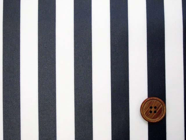 画像1: 定番● ストライプ【大】柄 ブロード生地(紺色)ラミネート つや消し