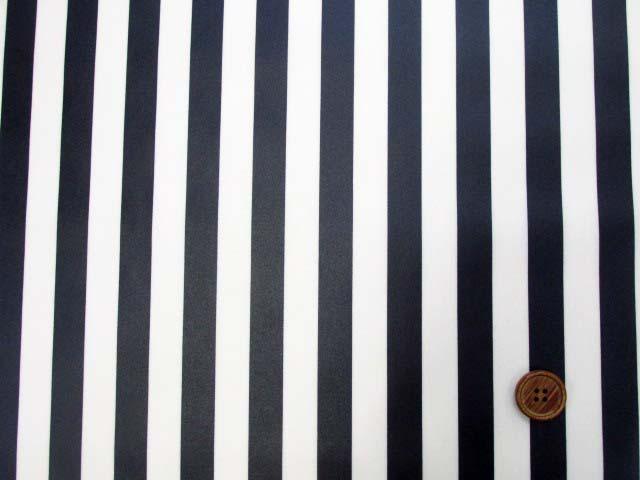 画像2: 定番● ストライプ【大】柄 ブロード生地(紺色)ラミネート つや消し