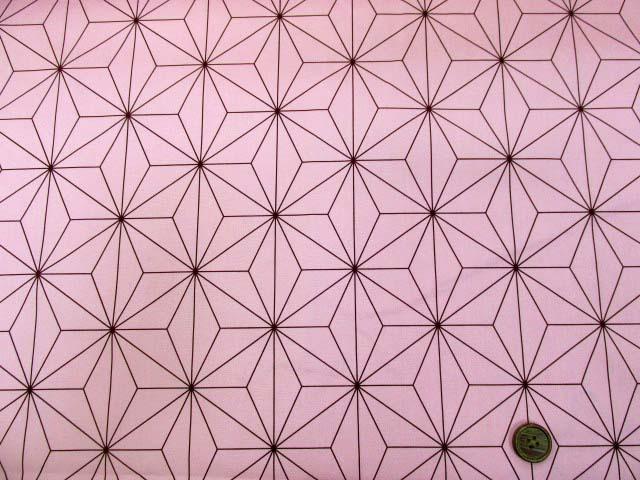 画像2: コスプレ衣装などに!! 和柄 麻の葉柄 ブロード生地 (ピンク地)