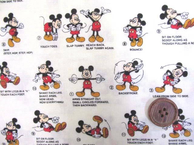 画像1: 2019年 ミッキーマウス シーチング生地