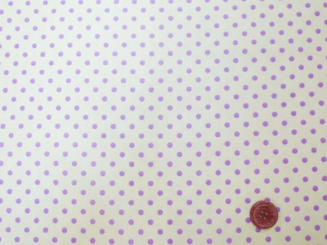 画像2: 4mm ドット 紫色の水玉 (イエロー地)【 カラー 6 】 シーチング生地 ラミネート つや消し
