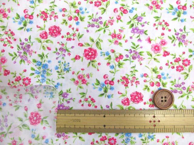 画像3: フラワーガーデン・花柄 ブロード生地