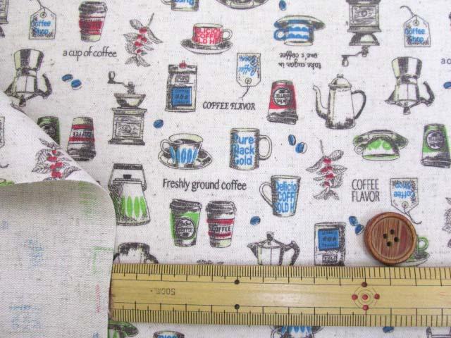 画像3: 綿麻キャンバス コーヒー カップ ポット(生成り) ラミネート つや消し