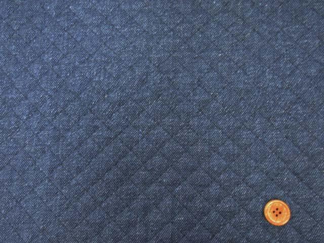 画像2: デニム調 無地・デニム柄(紺)  全針キルト