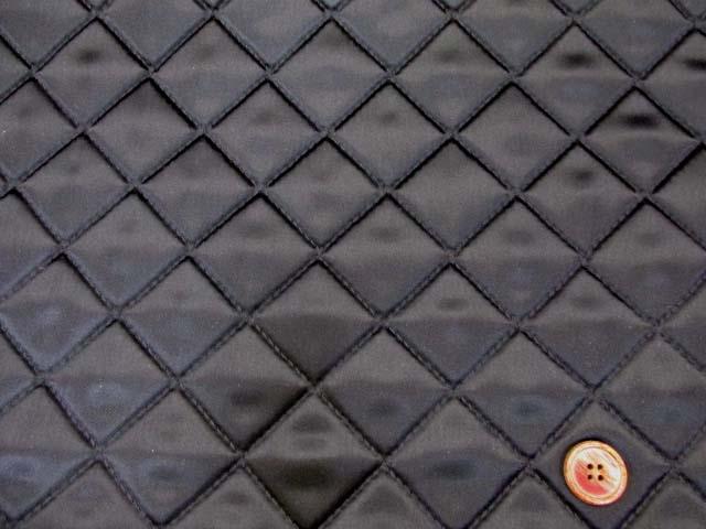 画像2: サテンキルト 無地 (黒)  半針キルト