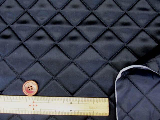 画像3: サテンキルト 無地 (黒)  半針キルト
