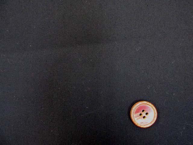 画像1: ♪無地 ツイル生地 (黒) はぎれ20cm