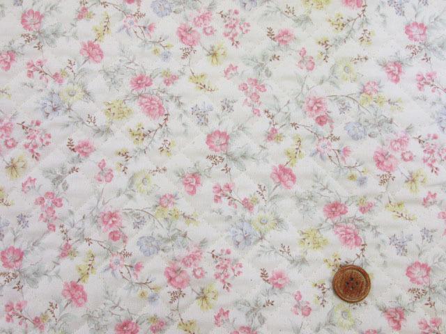 画像2: ふんわりガーデン・フラワー・花柄 スケア生地 (ピンク) 全針キルト