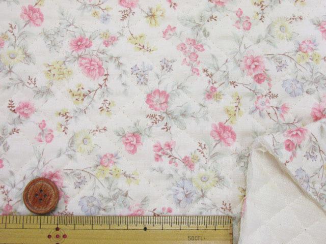 画像3: ふんわりガーデン・フラワー・花柄 スケア生地 (ピンク) 全針キルト
