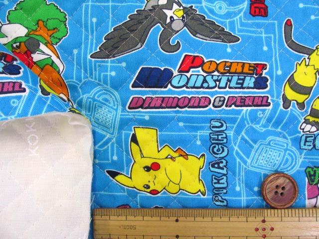 画像3: ポケットモンスター ダイアモンド&パール柄 オックス生地 全針キルト はぎれ90cm