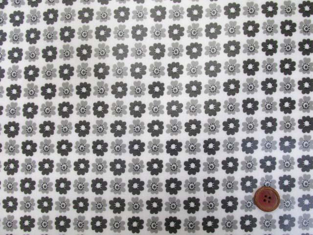 画像2: シンプルフラワー小花 シーチング生地 (モノトーン) ラミネート つや消し