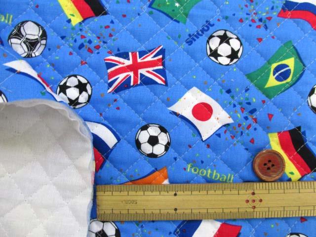 画像3: サッカー・国旗柄 CB生地 (ブルー)  全針キルト