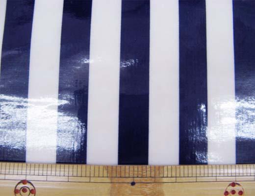 画像1: 定番 ストライプ【大】柄 ブロード生地(紺)ラミネート