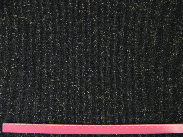 画像1: シルクウール ツイード生地(黒)