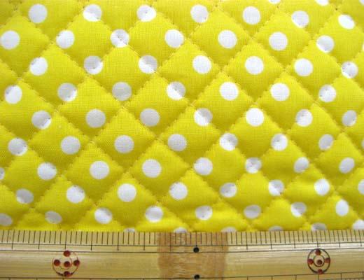 画像1: 7mmドット柄キルティング(黄色)